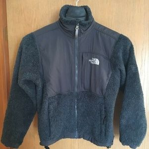 THE NORTH FACE WOMENS RUFF FLEECE JACKET, BLACK,